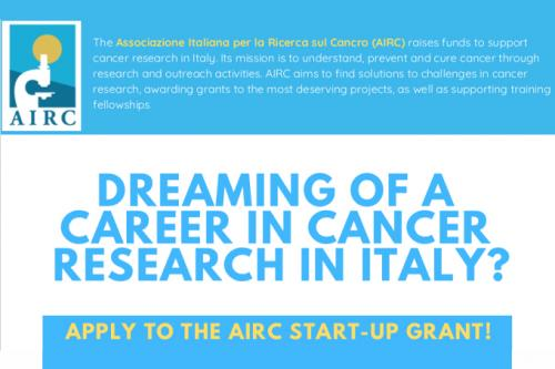 Foto 1 - AIRC APRE IL BANDO PER IL GRANT START-UP
